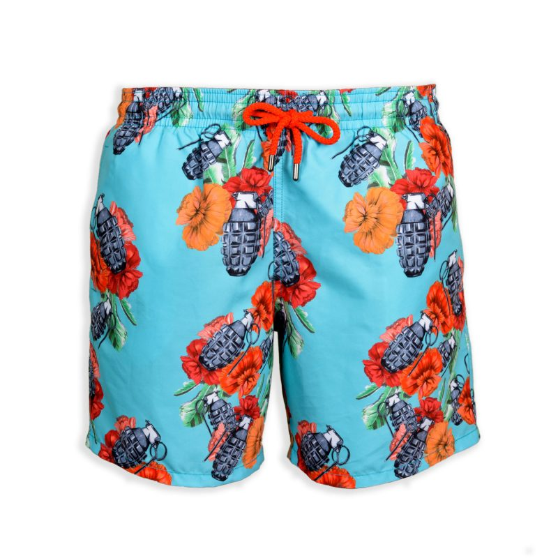 art of war swim shorts front