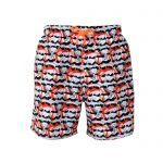 fire swim shorts front