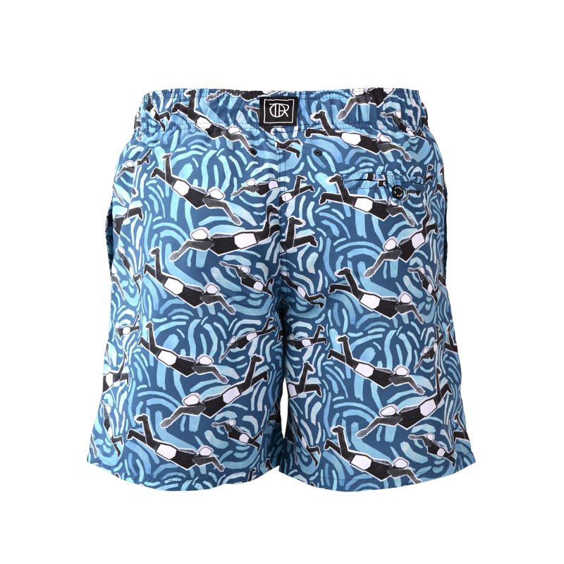 freestyle swim shorts back
