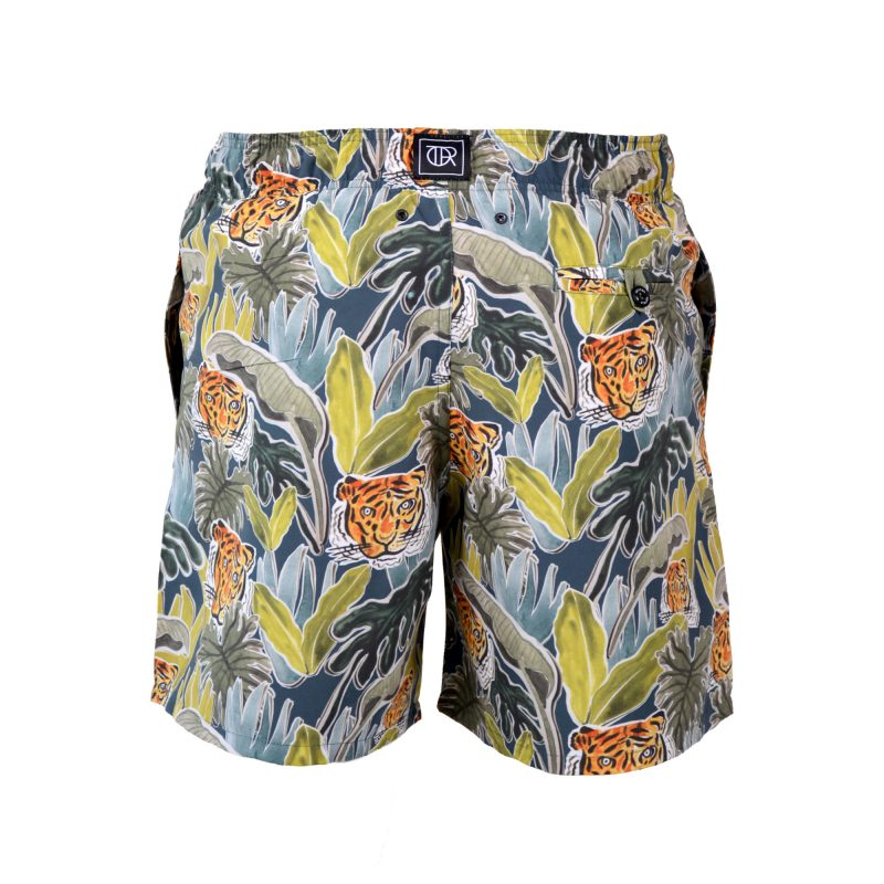 jungle swim shorts back