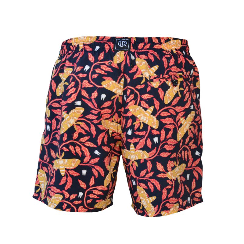tiger moth swim shorts back