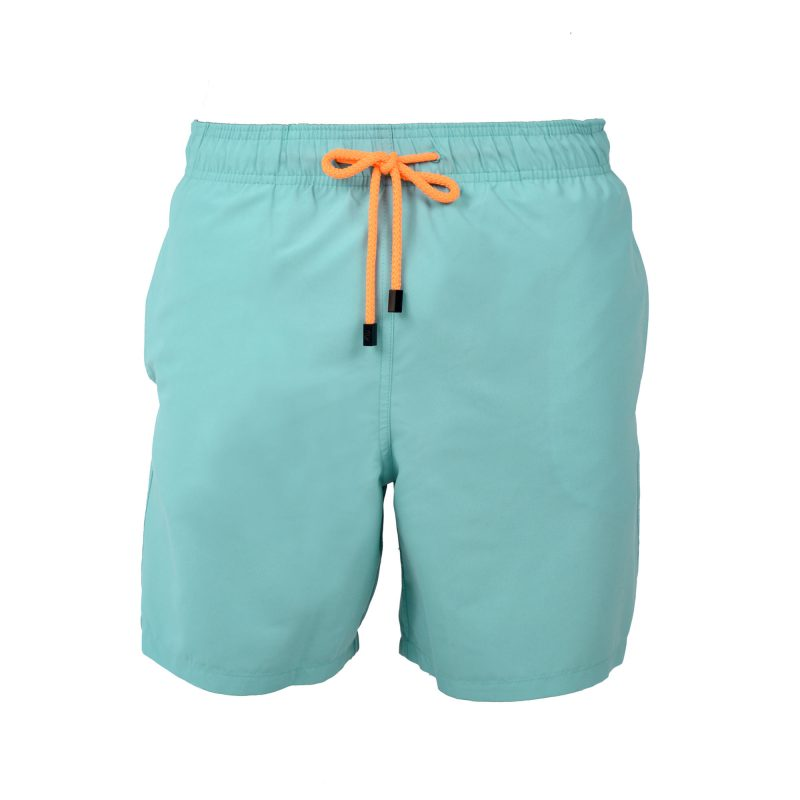 seafoam swim shorts front