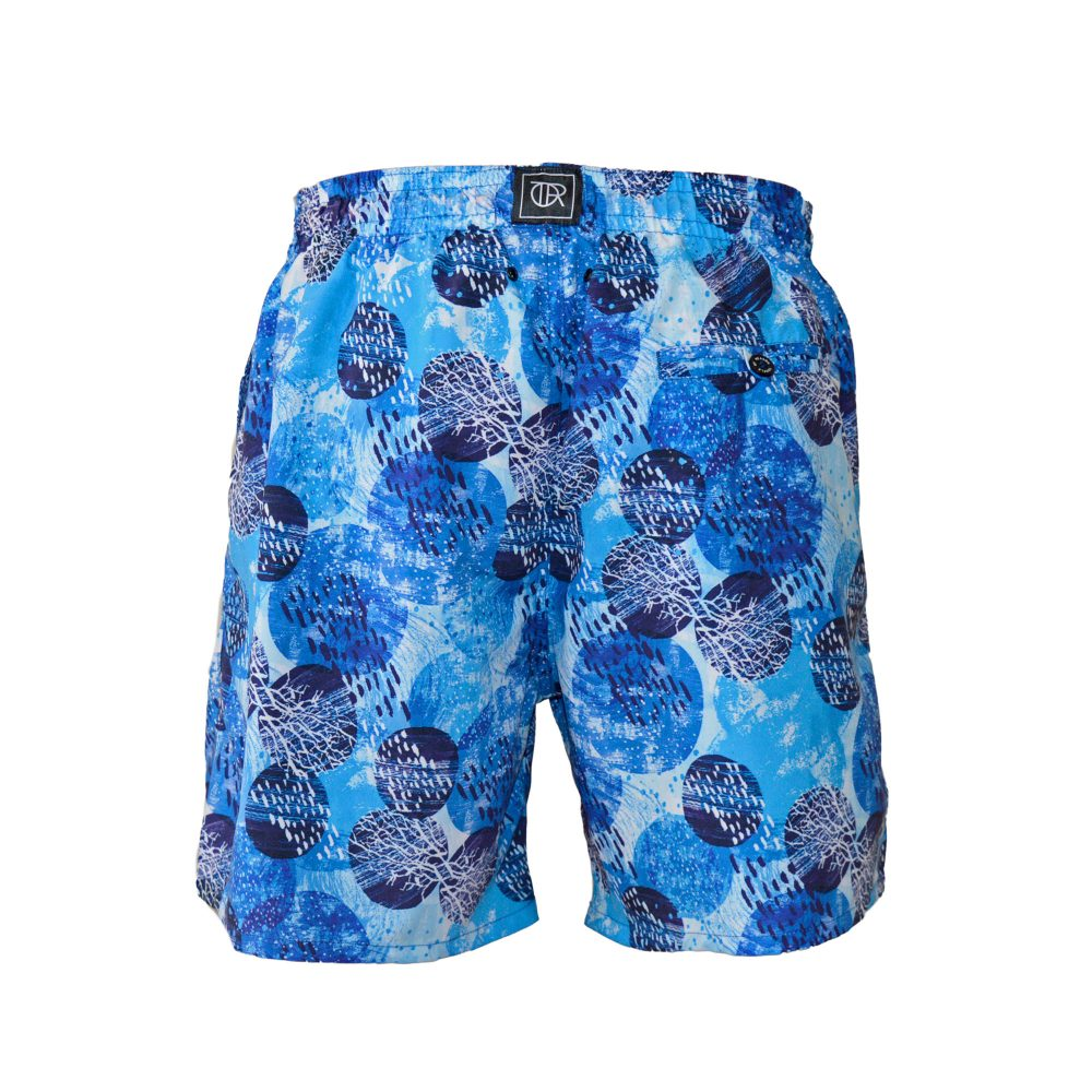 water swim shorts back