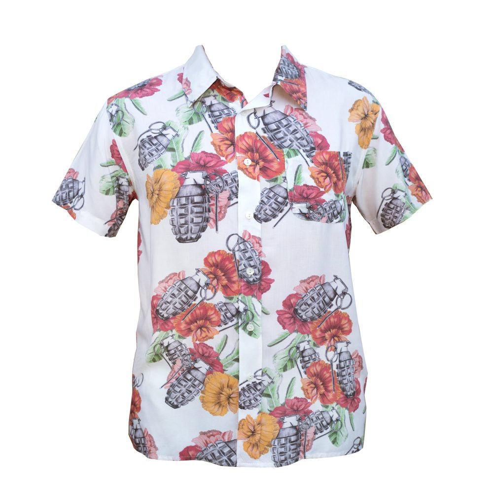 Hawaiian flower bomb shirt front