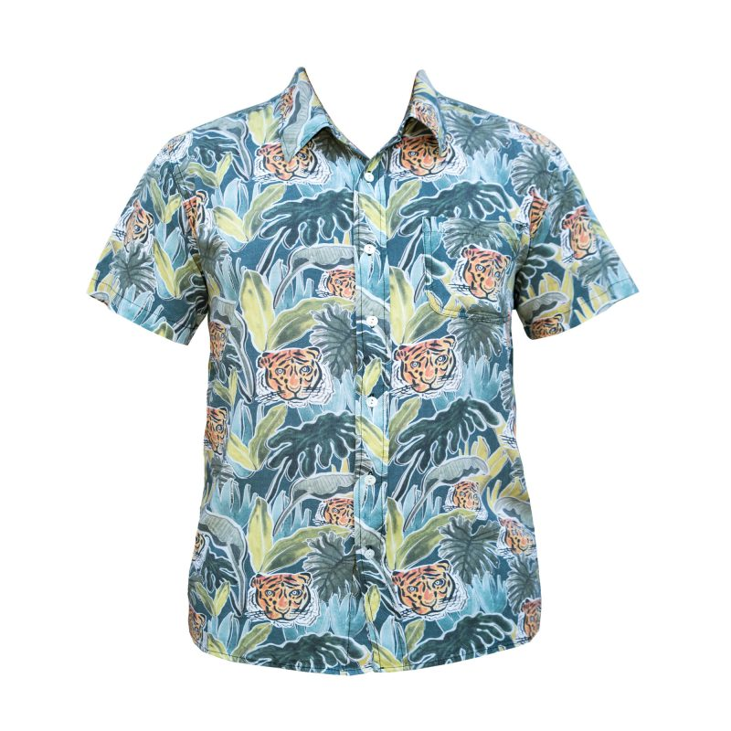 Hawaiian jungle boogie shirt front