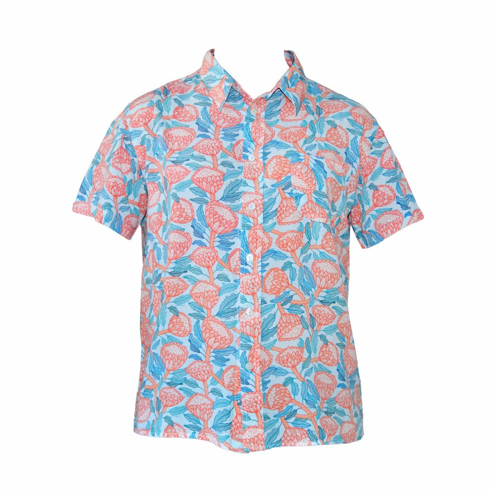 hawaiian protea shirt front