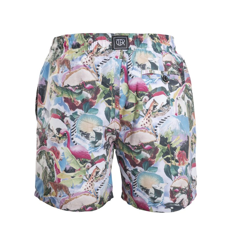 Plastic Paradise Swim Short Back